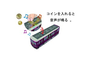 京とれいん雅洛 走る!鳴る!電車型貯金箱