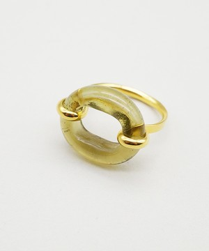 【CLED / クレッド】IN THE LOOP Ring / リング / 14K Gold Filled×Sand Stone