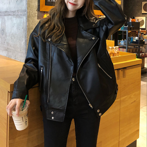Over size leather riders jacket LD0611