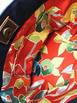 Sサイズ・倉敷帆布x着物:キャンバストートバッグ