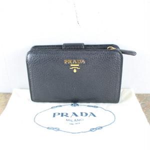 PRADA LOGO LEATHER BI-FOLD WALLET/プラダロゴレザー2つ折り財布