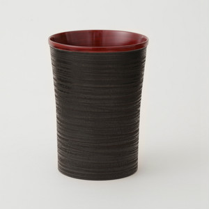 香川漆器 象谷ビアカップ 朱 / 黒 中田漆木