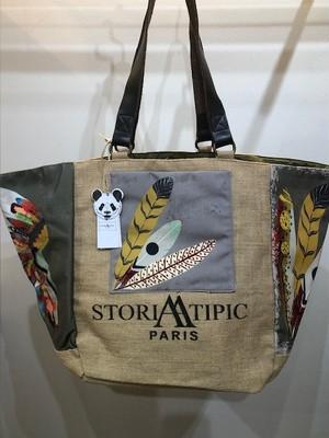 STORIATIPIC (ストリアティピック)PARIS TOTE BAG Col.1 プリントトートバッグ大 インド製