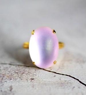 マットバイオレットムーン  モダンガラスリング(指輪)