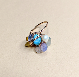 Color stone ring   MIHO meets RUKUS