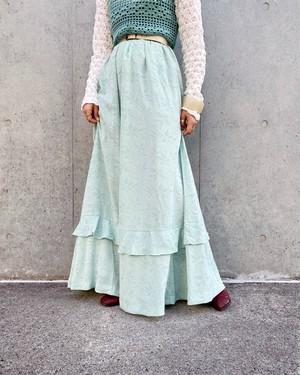 (PAL) flower pattern flare skirt