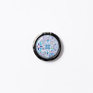 スマホリング・バンカーリング(ブルーモロッコタイル)ディスパージョンアート