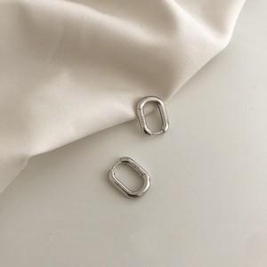 square hoop pierce(slv925)