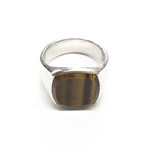 TOM WOOD CUSHION TIGER EYE RING
