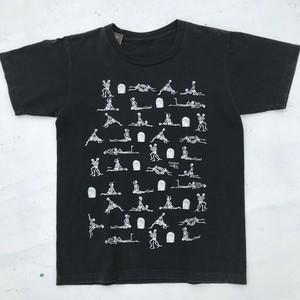 90's SKULL SEX Tシャツ FASHION VICTIM 1990 四十八手 エロ ガイコツ ブラック 希少 ヴィンテージ