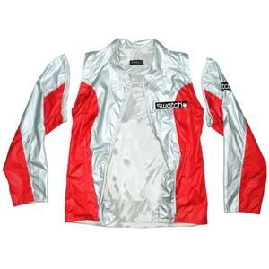『SWATCH』 90-00s Silver nylon Jacket