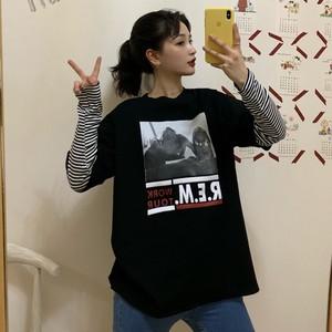 【トップス】韓国系アルファベットプリントラウンドネックTシャツ25710027