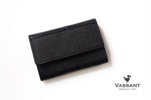ヴァサン|VASSANT|グレインレザー×アリゲーターコインケース|小銭入れ|ブラック
