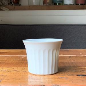 兵庫篠山 王地山焼 CUP 鎬(白磁)