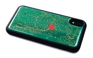 FLASH 東京回路線図 iPhone XRケース 緑【東京回路線図A5クリアファイルをプレゼント】