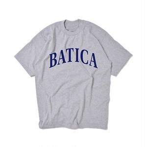 BATICA COLLEGE LOGO T-SHIRT GRAY × NAVY