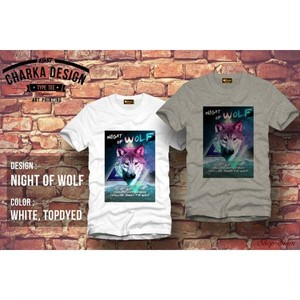 Night of wolf Art Printing T-Shirts