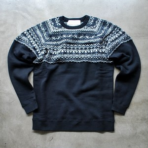 White Mountaineering CONTRASTED JACQUARD KNIT