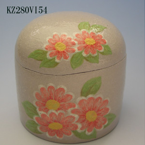 陶器製ミニ骨壷あんのん(KZ280VI54)マーガレット