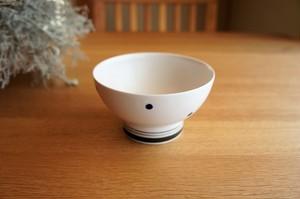砥部焼/くらわんか茶碗(大)/水玉/すこし屋