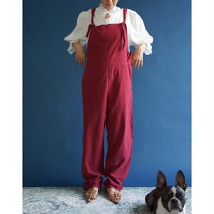 【送料無料】 90's wine color jumpsuit(90年代 ワインカラー ジャンプスーツ)