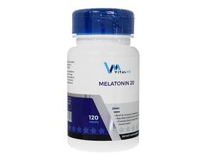【(バイタルミー) メラトニン 20mg】 1錠に20mgのメラトニンを配合した睡眠の維持に有用なサプリメントです。