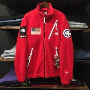 【SUPREME×THE NORTH FACE】-シュプリーム-SS17 POLAR TEC FLEECE JACKET RED