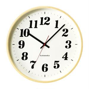 KATOMOKU plywood wall clock 3 km-43N