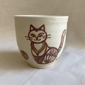 おしゃまネコの絵付けカップ E / カップ・湯呑み