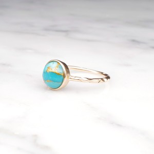 S925 COPPER TURQUOISE RING GOLD 001