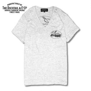 "DUCKTAIL CLOTHING ""PARADISE V-NECK"" IVORY ダックテイルクロージング Vネック Tシャツ"