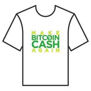 BitcoinCashTシャツ シリーズC 白 COFA(C4-001)