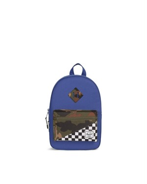 HERSCHEL Heritage Backpack  Kids Color: Deep Ultramarine/Checker/Woodland Camo