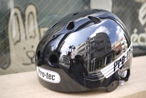 PRO-TEC「OLD SCHOOL SKATE HELMET」- GLOSS BLACK