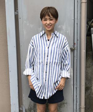 St JOHN'S BAY Stripe Big Shirt セントジョンズベイ ストライプ ビック シャツ (UT-196)