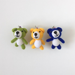 クマのあみぐるみキーホルダー|Bear Amigurumi Keychain