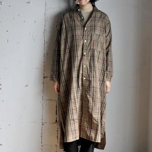 weac. Long shirts dress -brown-
