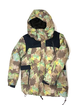 PALM IN CAMO DOWN JACKET/BROWN