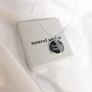 [Nouvel Amour] 20MMラウンドメッセージコインネックレス