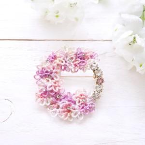 【八重桜】 ブローチ