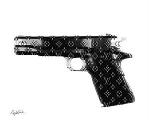 Craig Garcia 作品名: LV GUN A4キャンバスポスター【商品コード: lvgun01】