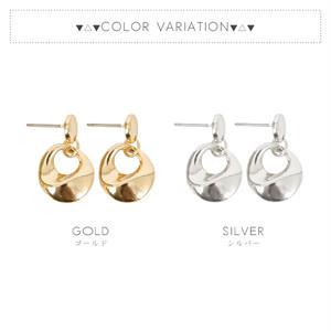 【ピアス】★新色追加★全2色!シンプルデザインリングメタルピアス