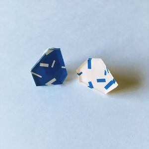 【 plate fragment_ブルー×ベージュ 】
