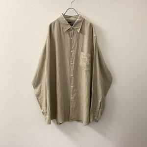 MURANO リネンシャツ ライトブラウン size XL メンズ 古着
