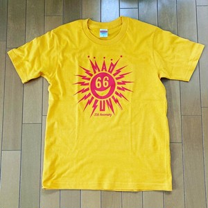 MAD SUN T-Sirts Red Print on Yellow