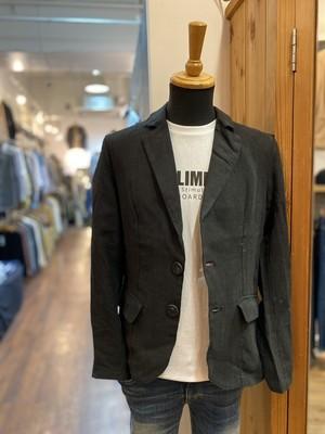 U.S.BOARDER 100% linen tailored jacket   (black)     リネン100%テーラード 麻
