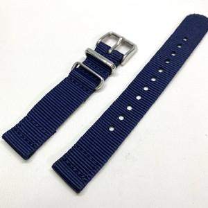 セパレート(2ピース) NATOナイロンストラップ ネイビー16mm 腕時計ベルト