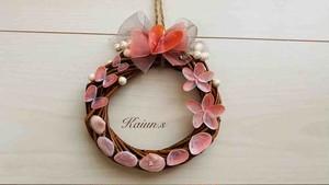 ラブリー桜ピンク シェルリース