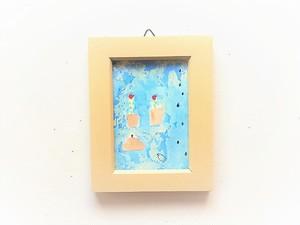 「雨と庭」 小さな絵
