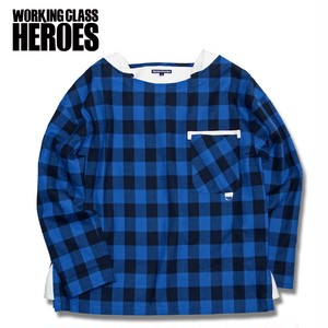 WCH Buffalo Plaid Busted Shirt -Blue